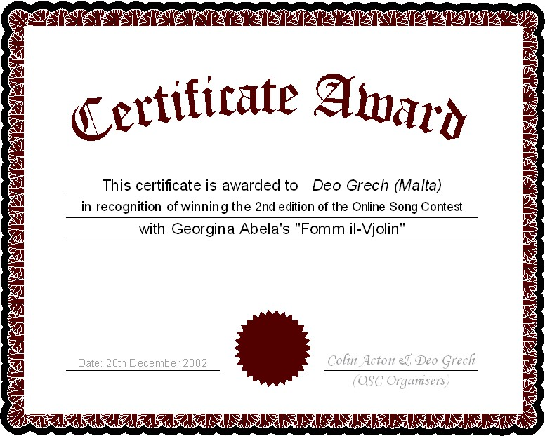 The Online Song Contest